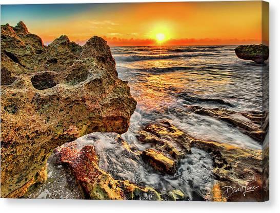 Limestone Sunrise Canvas Print