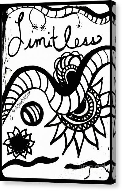 Canvas Print featuring the drawing Limitless by Rachel Maynard