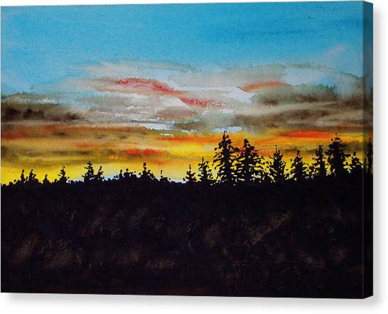 Lincoln County Sunset 2 Canvas Print
