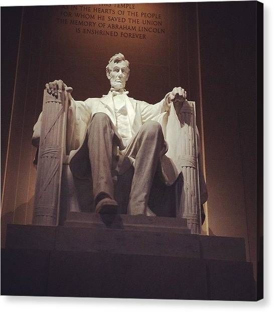 Republican Presidents Canvas Print - Abraham Lincoln Statue Dc by Lana Rushing