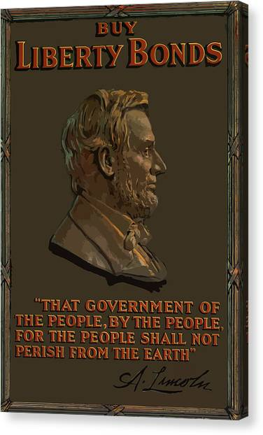 Abraham Lincoln Canvas Print - Lincoln Gettysburg Address Quote by War Is Hell Store