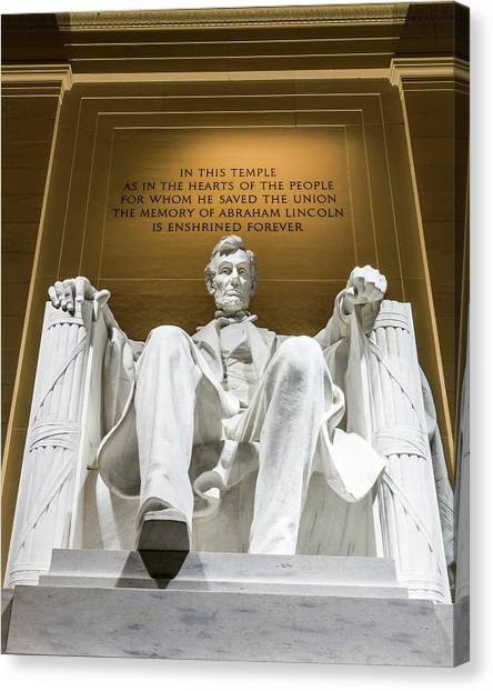 Washington Nationals Canvas Print - Lincoln Memorial 2 by Larry Marshall