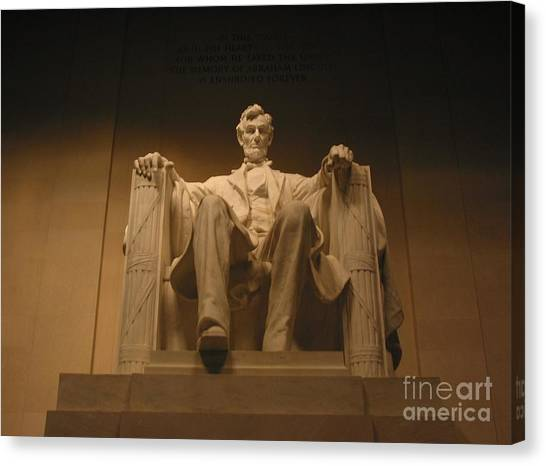 Lincoln Memorial Canvas Print - Lincoln Memorial by Brian McDunn