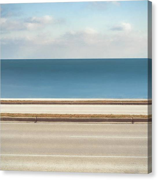 Lake Michigan Canvas Print - Lincoln Memorial Drive by Scott Norris