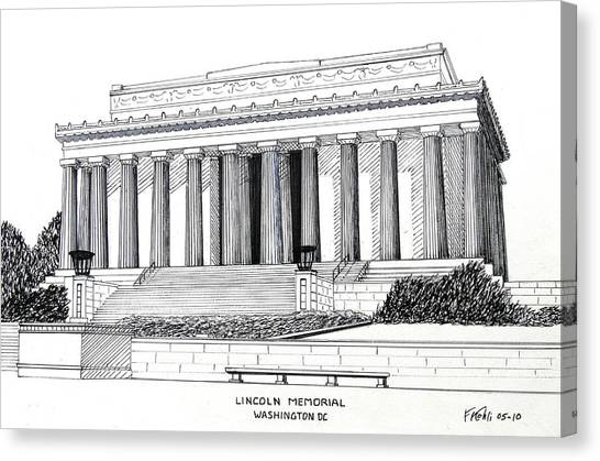Lincoln Memorial Canvas Print - Lincoln Memorial  by Frederic Kohli