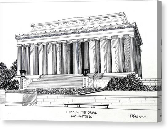 Lincoln Memorial Canvas Print - Lincoln Memorial  by Frederic Kohli
