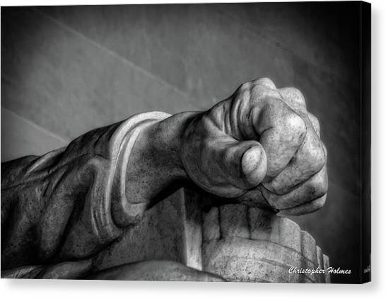Lincoln's Left Hand B-w Canvas Print