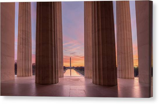 Lincolns View Canvas Print by Michael Donahue