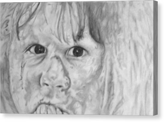The Exorcist Canvas Print - Linda Blair by Alfonso Gallegos