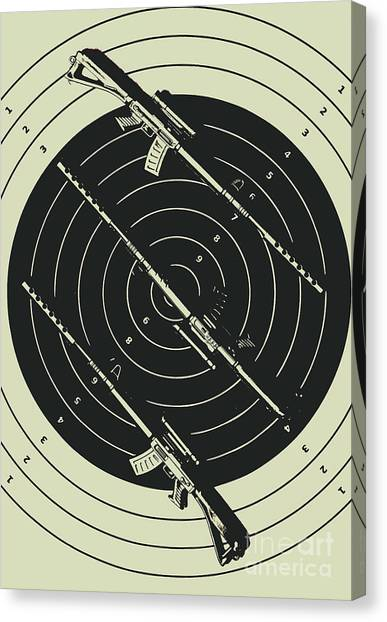 Rifles Canvas Print - Line Art Rifle Range by Jorgo Photography - Wall Art Gallery