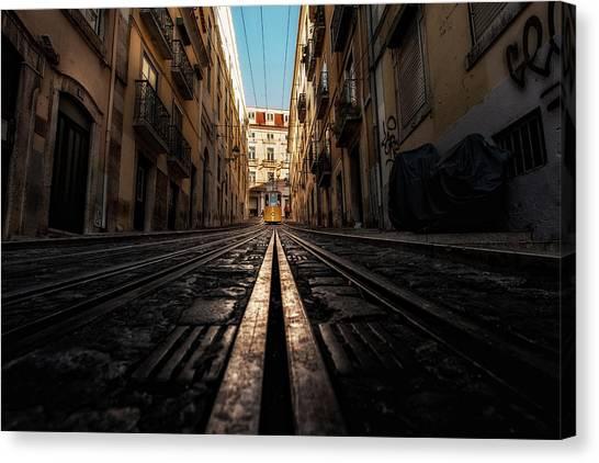 Light Rail Canvas Print - Line by Jorge Maia