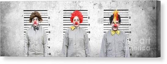 Clown Art Canvas Print - Line Up Of The Usual Suspects by Jorgo Photography - Wall Art Gallery