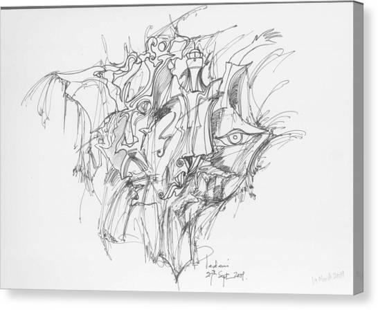 Lines And Forms Canvas Print by Padamvir Singh