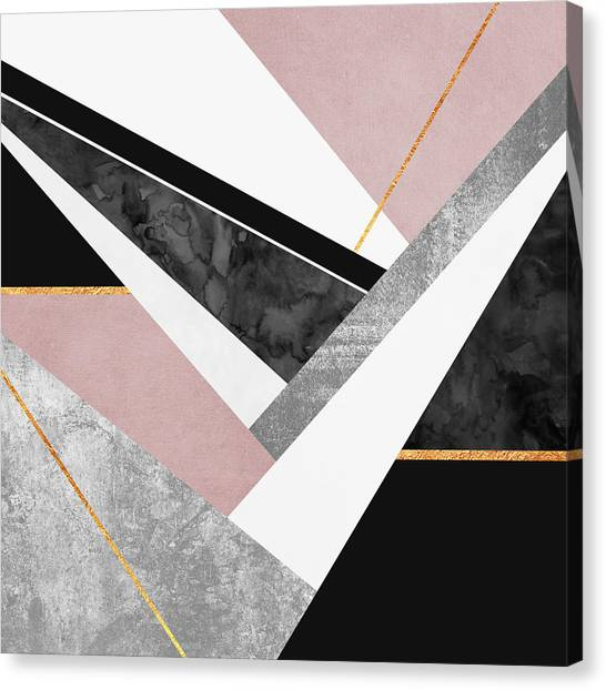 Graphic Canvas Print - Lines And Layers by Elisabeth Fredriksson