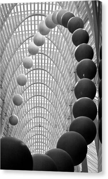 Lines Arcs And Spheres Canvas Print