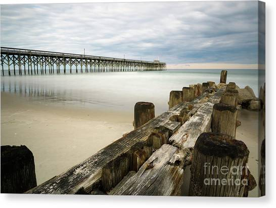 Groin Canvas Print - Lines by DiFigiano Photography