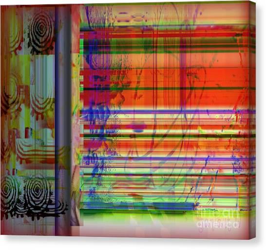 Lines Of Illusion Canvas Print by Fania Simon