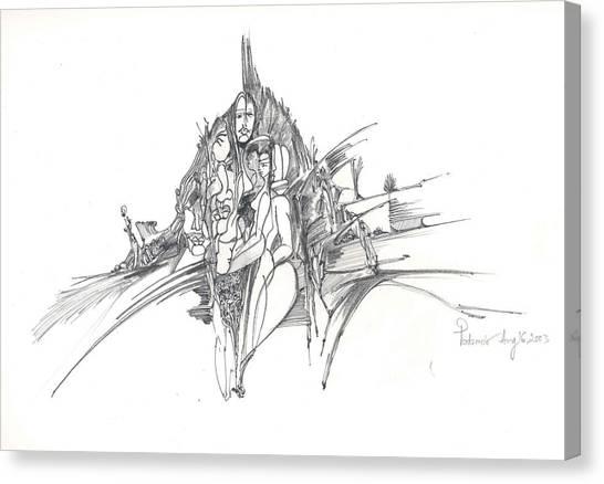 Lines Of Integration Canvas Print by Padamvir Singh