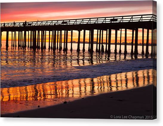 Sunset Seacliff Shadows Canvas Print