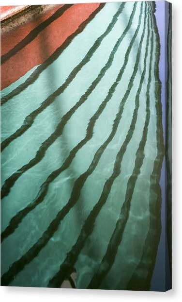 Lines On The Water Canvas Print