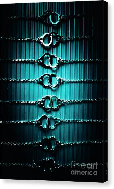 Detention Canvas Print - Lineup Of Crime And Misconduct by Jorgo Photography - Wall Art Gallery