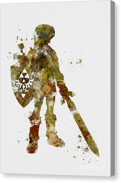 Zelda Canvas Print - Link 2nd Edition by Rebecca Jenkins