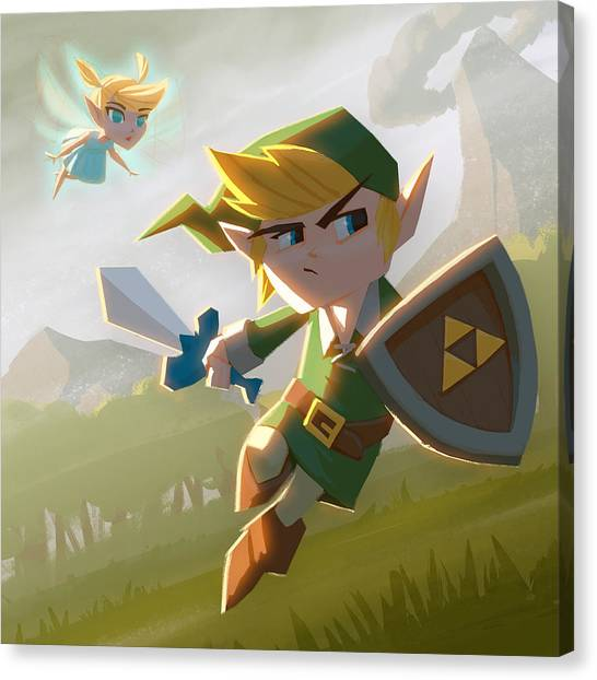 Zelda Canvas Print - Link by Adam Ford