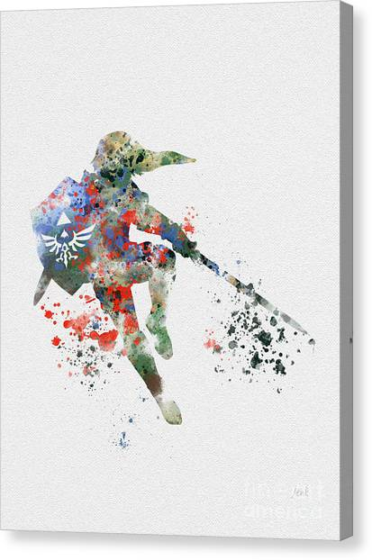 Video Games Canvas Print - Link by Rebecca Jenkins
