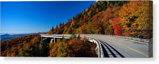 Orange Tree Canvas Print - Linn Cove Viaduct Blue Ridge Parkway Nc by Panoramic Images