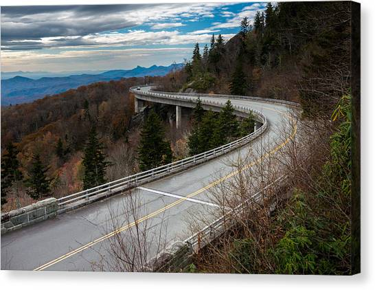 Linn Cove Viaduct Late Fall Canvas Print