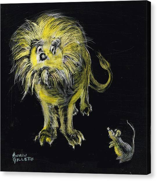 Lion And The Mouse Canvas Print