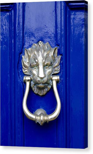 Lion Doorknocker Canvas Print