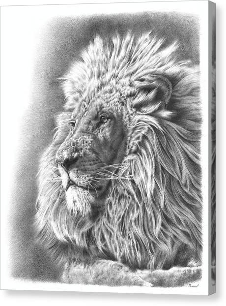 Large Mammals Canvas Print - Lion King by Remrov