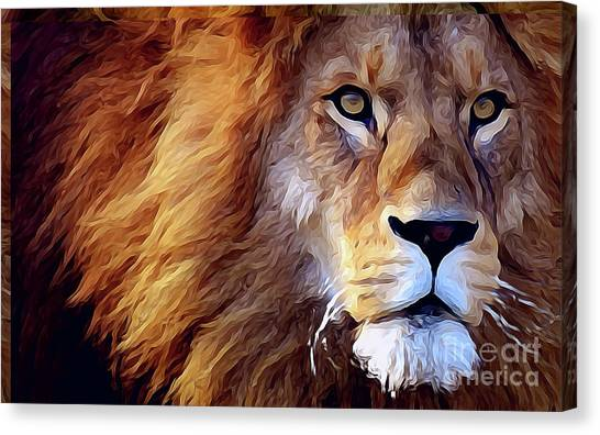 Lion-hearted Canvas Print