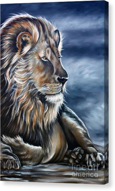 Lion Canvas Print by Ilse Kleyn