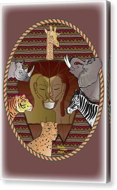 Lion Mutation Canvas Print