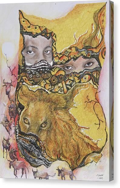 Lion Power Canvas Print