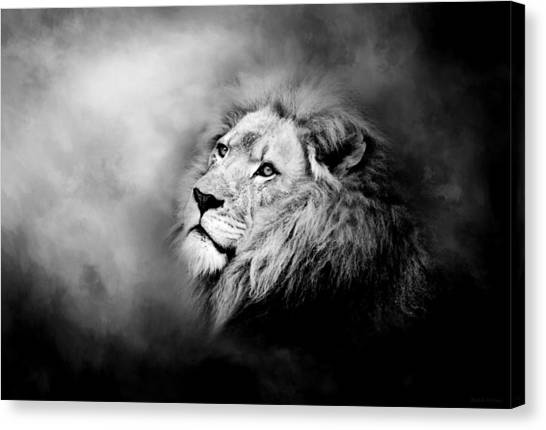 Lion - Pride Of Africa II - Tribute To Cecil In Black And White Canvas Print