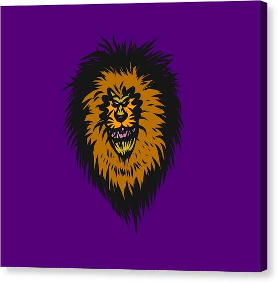 Lion Roar Purple Canvas Print