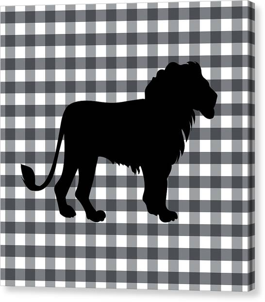 Country Canvas Print - Lion Silhouette by Linda Woods