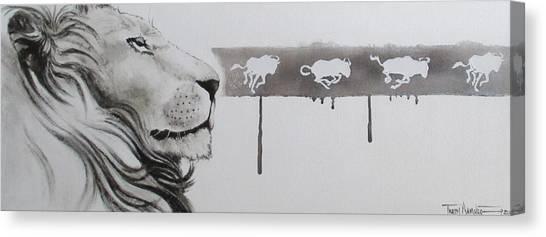Lion Tears Canvas Print