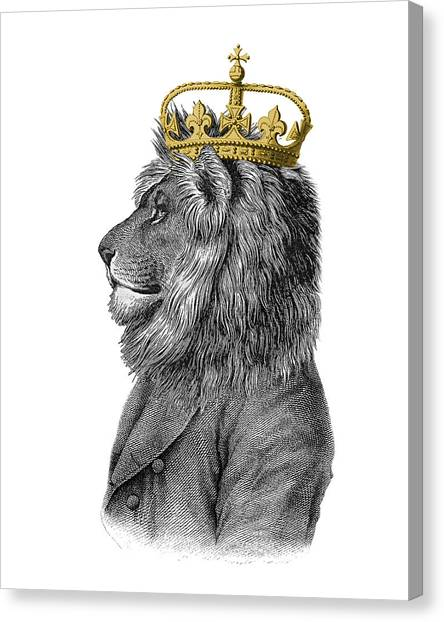 Iphone Case Canvas Print - Lion The King Of The Jungle by Madame Memento