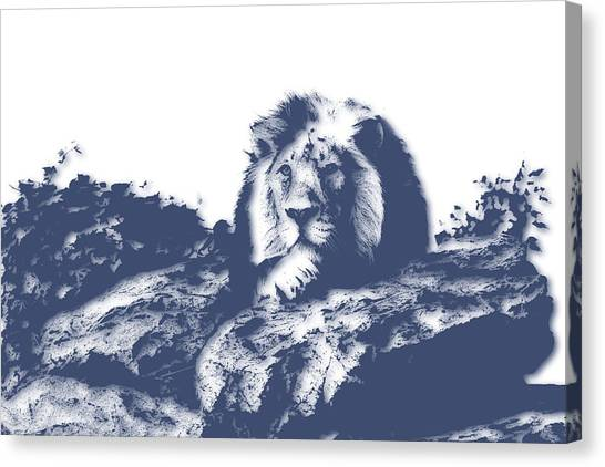Mount Kilimanjaro Canvas Print - Lion3 by Joe Hamilton