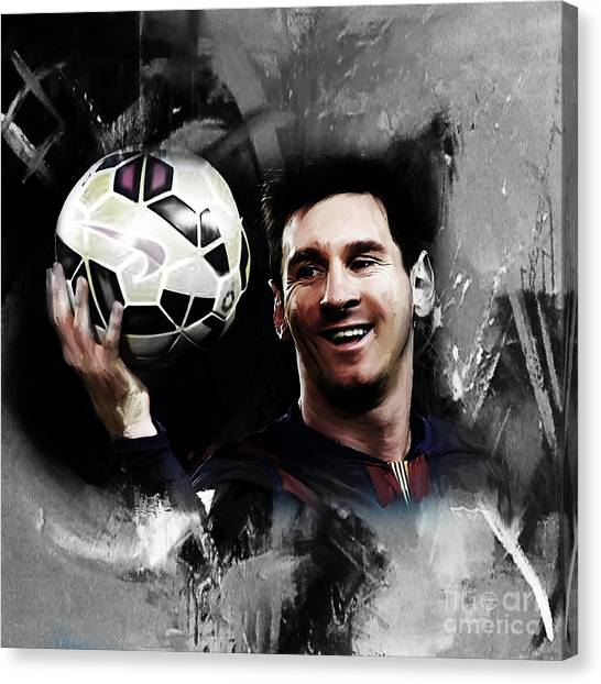 Lionel Messi Canvas Print - Lionel Messi 03c by Gull G