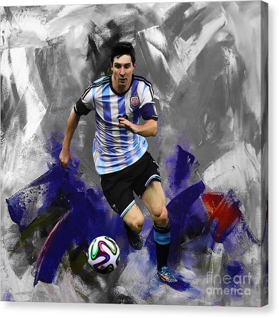 Lionel Messi Canvas Print - Lionel Messi 094a by Gull G