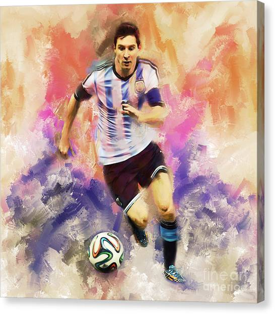 Lionel Messi Canvas Print - Lionel Messi 094c by Gull G