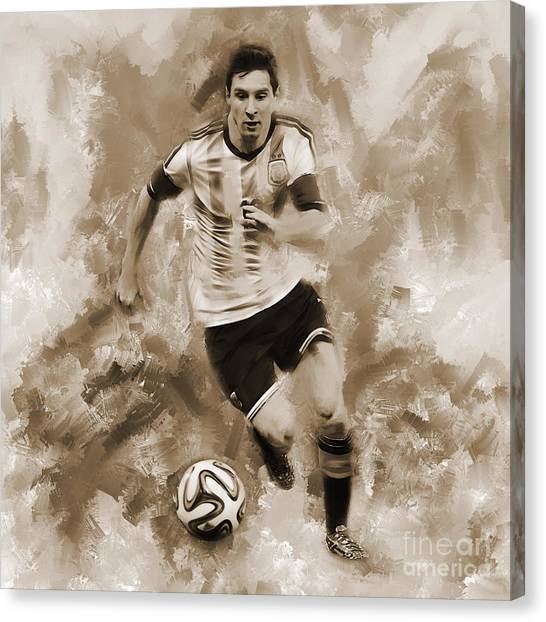 Lionel Messi Canvas Print - Lionel Messi 094f by Gull G