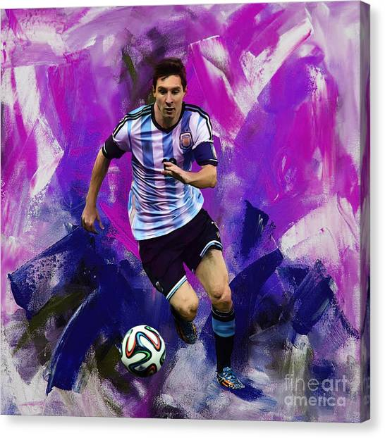 Lionel Messi Canvas Print - Lionel Messi 094g by Gull G