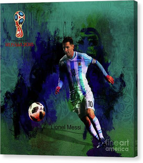 Lionel Messi Canvas Print - Lionel Messi 2018 World Cup  by Gull G