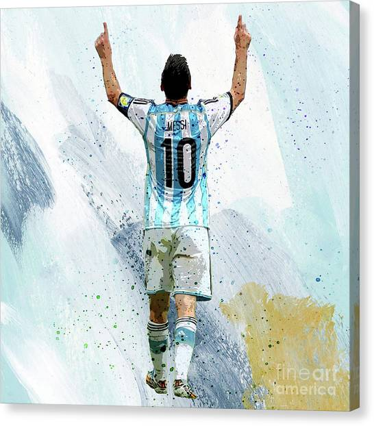 Lionel Messi Canvas Print - Lionel Messi 92ui by Gull G